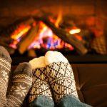 casa aquecida no inverno
